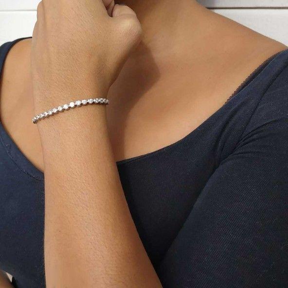Bracelet Tennis 4mm Argent 925/1000 Zirconium Rond