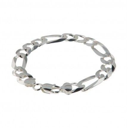 Bracelet 10 mm 3+1 en Argent 925/1000