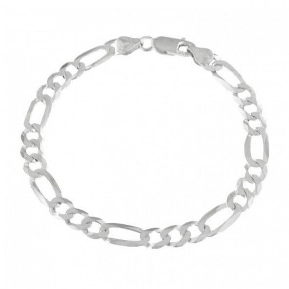Bracelet 6 mm 3+1 en Argent 925/1000