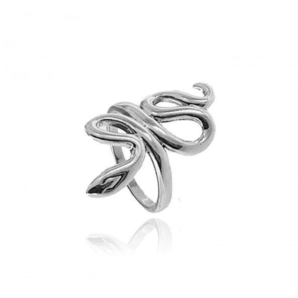 925/1000 Silver Snake Ring