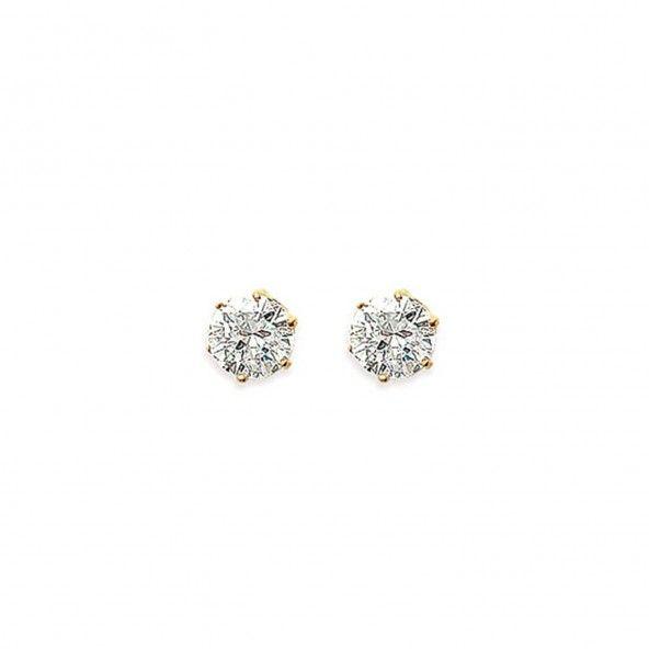 Earrings with Zirconium Stone 7mm