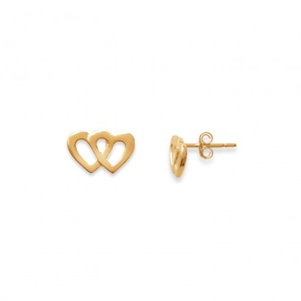 Earrings Heart Shaped Gold plated