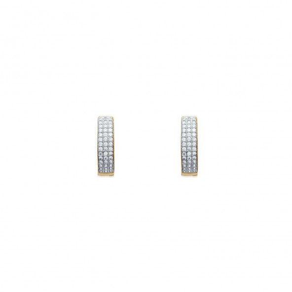 Boucles d'oreilles avec pierres Zircon Plaqué Or