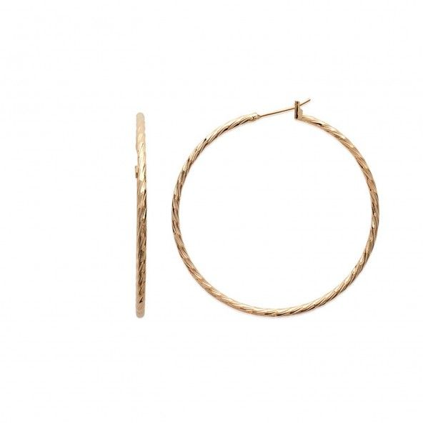 Gold plated Hoops Twisted Wire Diameter 50mm