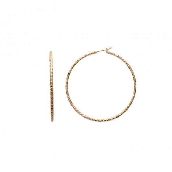 Hoops Twisted Wire Gold plated Diameter 60mm