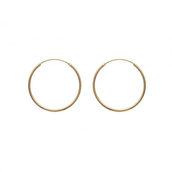 Gold plated Hoops Round Shape Diameter 40mm