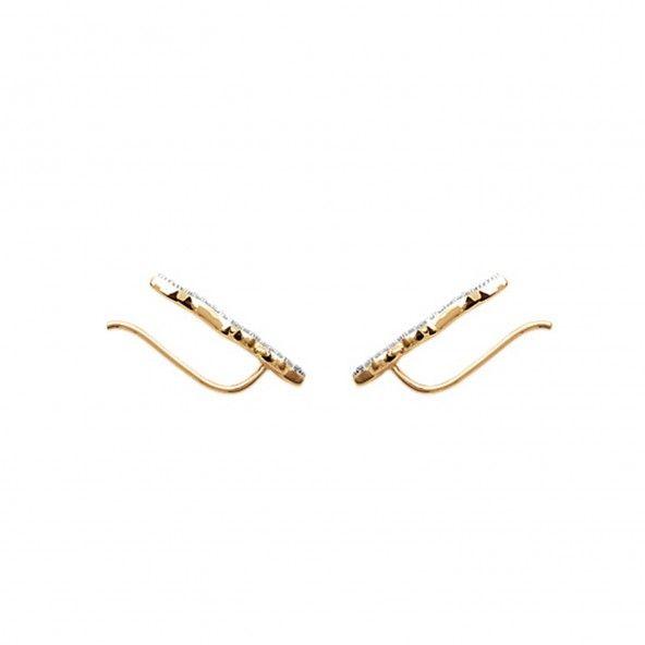Coutours d'oreilles avec Zircon Serpent