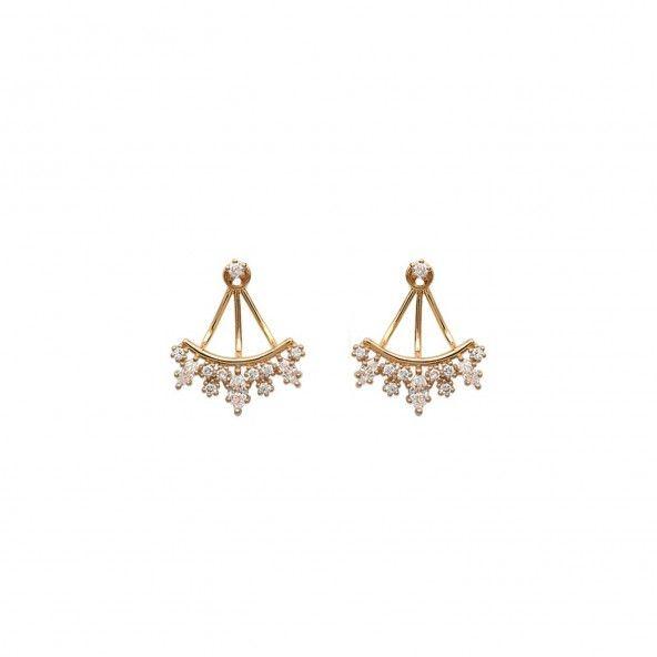 Earrings Contours Zirconium