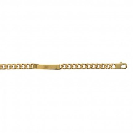 Gold Plated Bracelet With Plate.