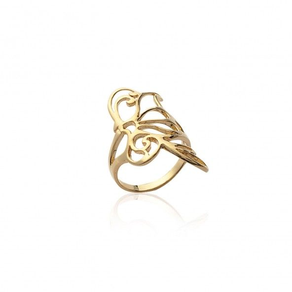 Ring Butterfly Gold Plated
