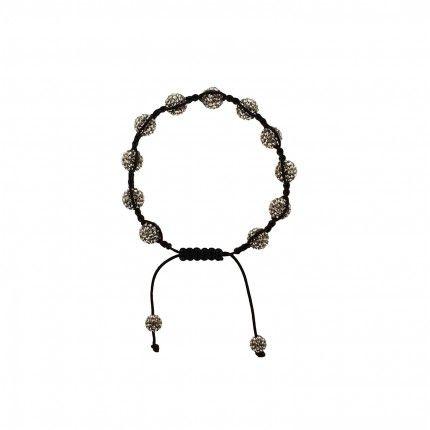 Thread Bracelet Swarovski Grey