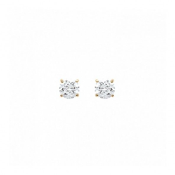 Earrings 4 Claws with Zirconium Stone 6mm