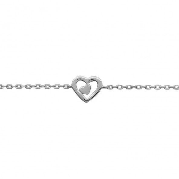 925/1000 Silver Heart Bracelet