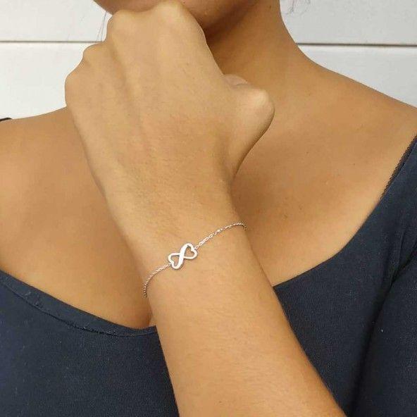 925/1000 Silver Infinity Bracelet