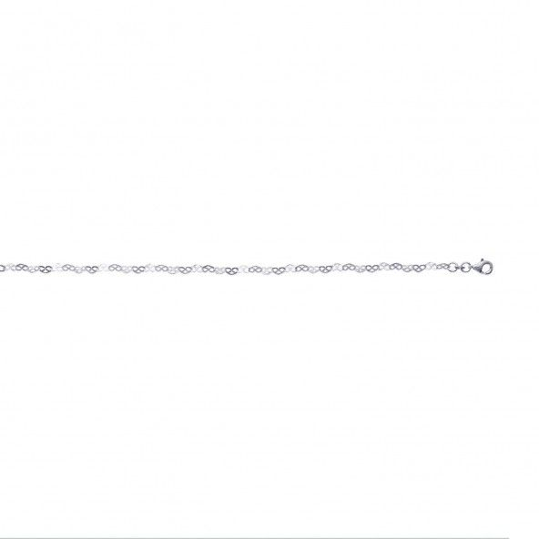 Bracelet Chaine Coeur Argent 925/1000