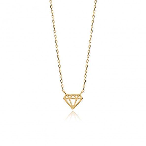 Collier Diamant Plaqué Or