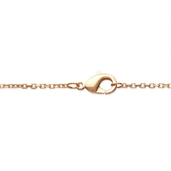 MJ Necklace with Round Zirconium Gold Plated