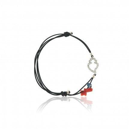 MJ Silk Thread Bracelet Viana Heart Zirconium 925/1000 Silver