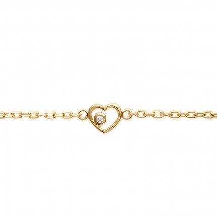 Bracelet Heart with Zirconium Gold Plated