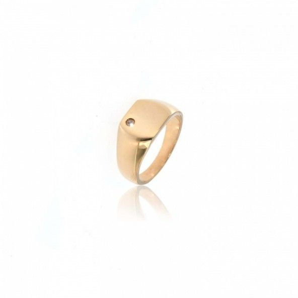 Gold Plated Ring Zircon