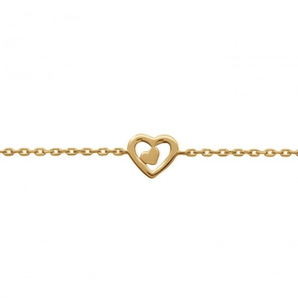 Bracelet Heart Gold Plated