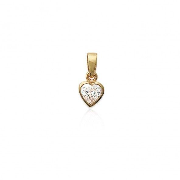 Pendant Zirconium Heart Gold Plated