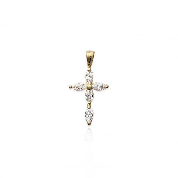 Pendant Zirconium Cross Gold Plated