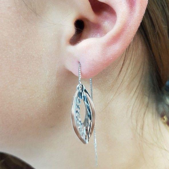 Boucles d'oreilles Pendantes Argent 925/1000