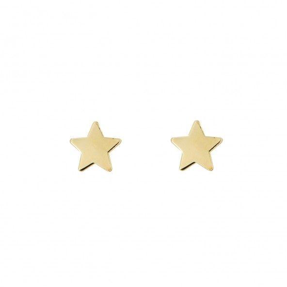 Brincos Estrela Ouro 375/1000