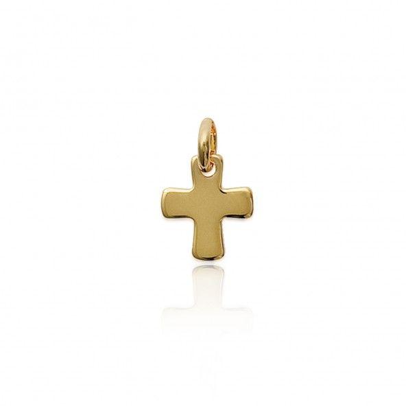 Pendente Cruz Plaqueado Ouro