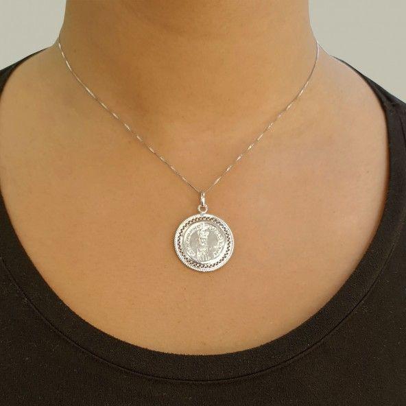 Médaille Religieuse Fatima 2,3 cm Argent 925/1000