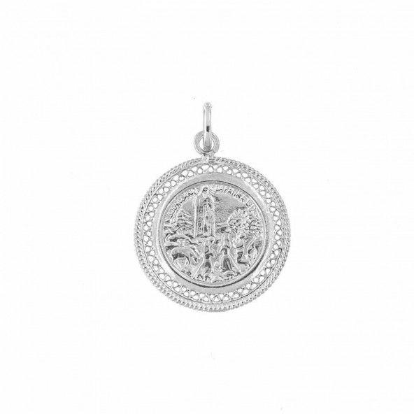 925/1000 Silver Saint Fatima 2,6 cm Pendant