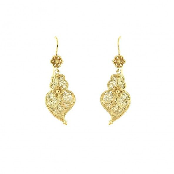 925/1000 Golden Silver Pendant Viana Heart