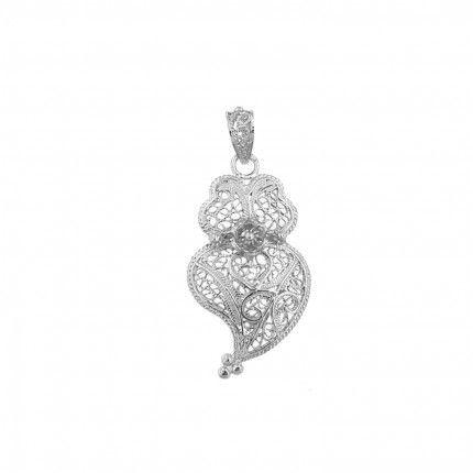 925/1000 Silver Pendant Viana Heart 4,3 cm