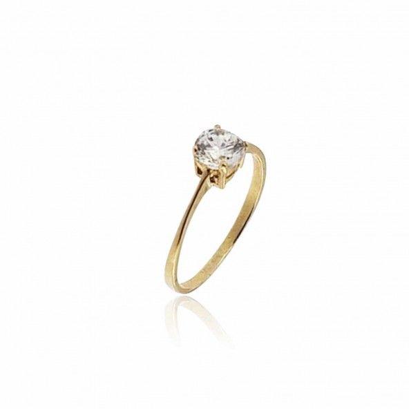 Anel Ouro 375/1000 Solitário