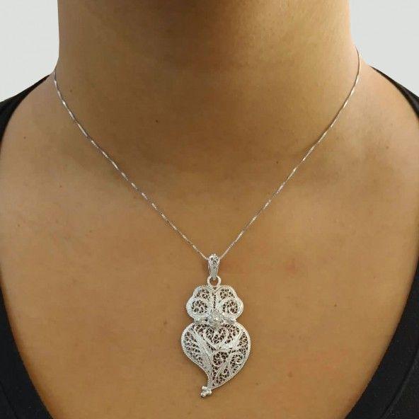 Pendentif Coeur de Viana 4,3 cm Argent 925/1000