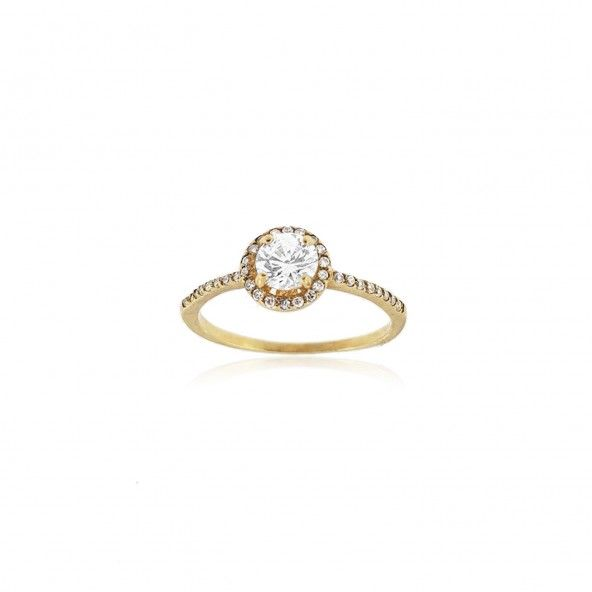 Bague Or 375/1000 Solitaire