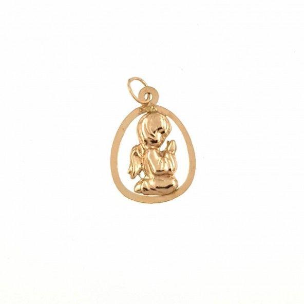 Angel Pendant 375/1000 Gold