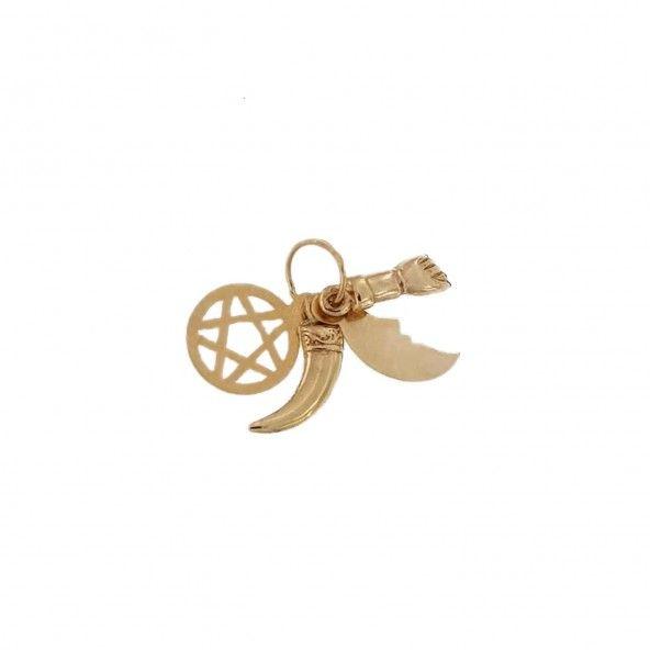 375/1000 Gold Cinco Simoes 12 mm Pendant