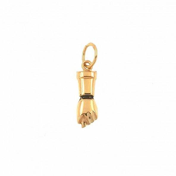 Pendente Figa Ouro 2 cm Ouro 375/1000
