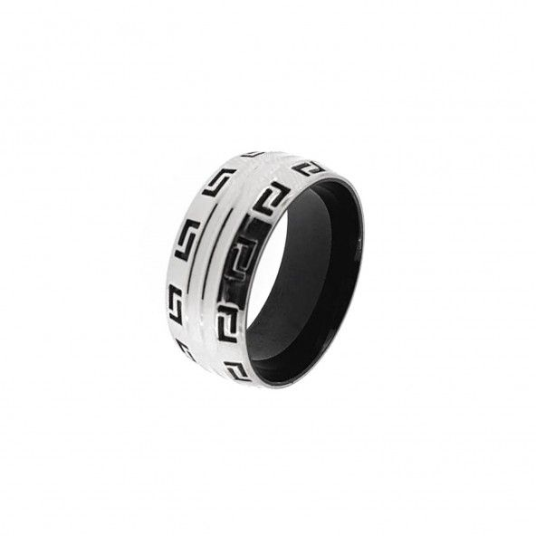Versace Stainless Steel Engagement Ring 1 cm