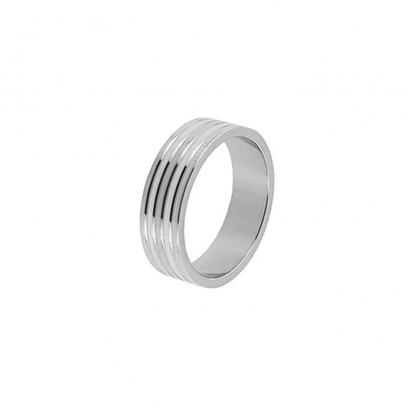 Stainless Steel Engagement Ring 7 mm 4 lines