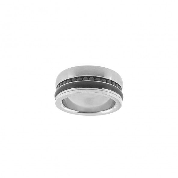 Alliance Acier 1 cm avec lignes céramique et zirconium