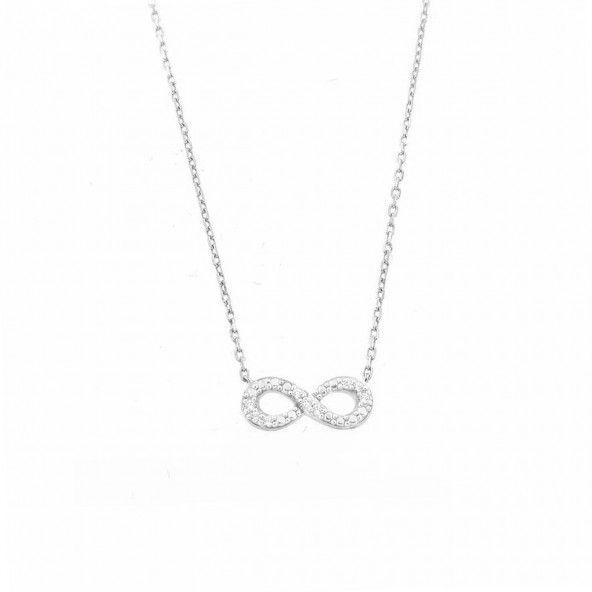 Chaîne Amulette Argent 925/1000 Signe de l'Infini
