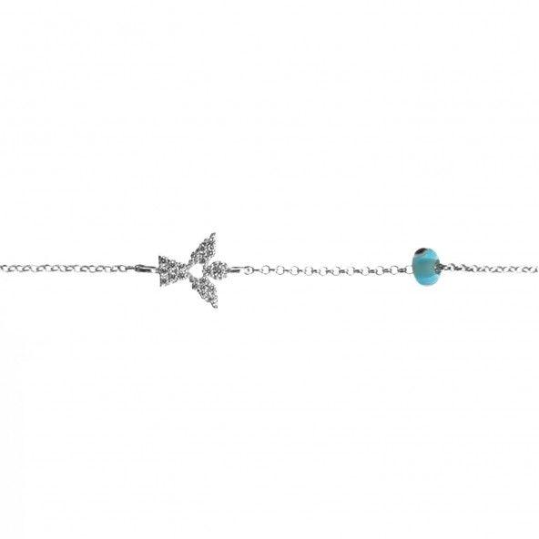 925/1000 Silver Angel Amulet Bracelet