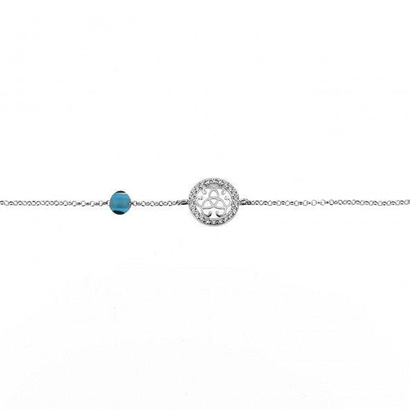 925/1000 Silver friendship symbol Amulet Bracelet