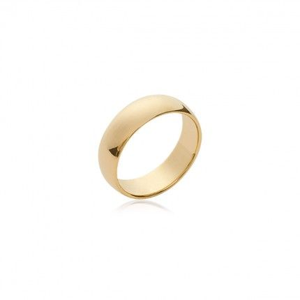 Flat Wedding Ring gold Plated 6mm witdth.