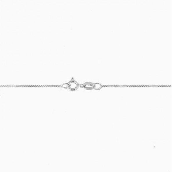 Fio fino de Prata 925/1000 malha Veniciana 45cm