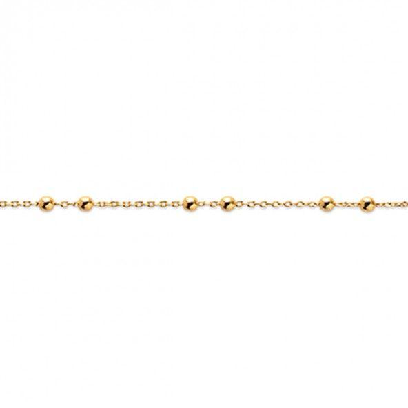 Bracelet 18 cm Plaqué Or avec petites boules
