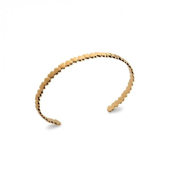 Bracelet Coeur Plaqué Or Multiples Coeurs 5mm
